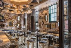 Cluny Bistro & Boulangerie, The Distillery District, Toronto. Interior design by Studio Munge. Restaurant Interior Design, Modern Interior Design, Restaurant Interiors, Commercial Design, Commercial Interiors, Bangkok, Toronto Travel, Ontario Travel, Contract Design