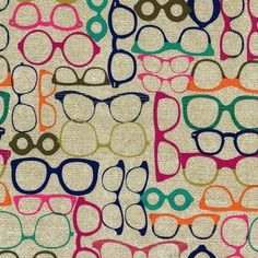 """20/20 Glasses"" - Fabric Fat Quarter by Michael Miller"