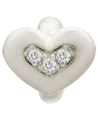 Endless Sterling Silver White Triple Love with Clear CZ Charm