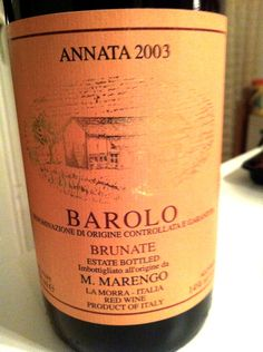 Mario Marengo #Barolo Brunate 2003. The last bottle. What a shame. This was just great!