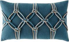 Elaine Smith Lagoon Rope Lumbar Pillow, 12 x 20