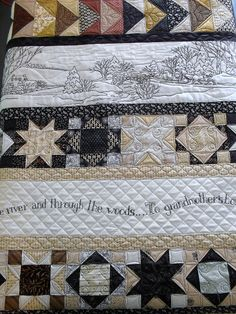 Over the River... pieced by Ellen Russell, quilted by Jessica's Quilting Studio