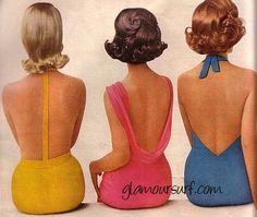 Glamoursplash: As seen from the back - Vintage Swimwear 1961
