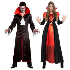 Costume Halloween, Halloween Makeup, Carnival Outfits, Carnival Clothing, Halloween Parejas, Vampire Dracula, Maquillage Halloween, Halloween Disfraces, Frocks