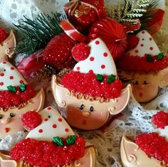Teri Pringle Wood:  Christmas elves. (See HP gingeebread.)