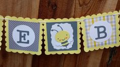 Bumble Bee Baby Shower Banner Gender Neutral by SoleilsPapeterie, $23.00