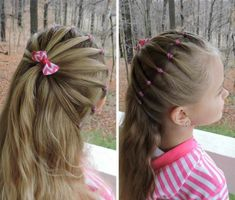 coiffure fillette tresse hollandaise #hairstyles #girl
