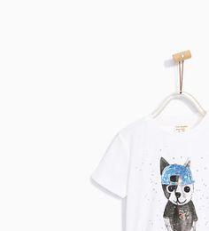 Image 2 of ANIMAL PRINT T-SHIRT from Zara