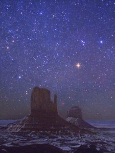 Night Sky over Monument Valley