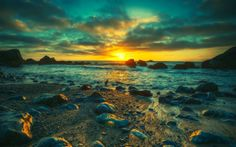 Real Beach Nature Landscapes Photography | landscapes nature sun beach hdr photography 1920x1200 wallpaper Nature ...