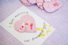 DIY Recycled Seed Paper Heart Valentines - Homemade DIY Classroom Valentines
