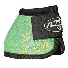 Green Glitter Bell Boots