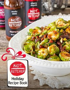 The Not Ketchup Holiday Recipe ebook - FREE download! Six delicious, super easy holiday recipes using Not Ketchup fruit ketchup sauces.  #notketchup #dipdifferently #awesomesauce #recipes #ebook #book #cookbook #thanksgiving #christmas