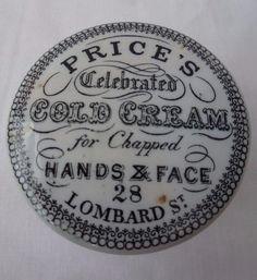 Price's cold cream pot lid