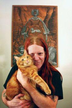 Adorable Photos of Metalheads and Their Pet Cats