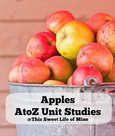 Apples - A to Z Unit Studies #homeschool #preschool #kindergarten #unitstudy | thissweetlifeofmine.com