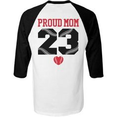 Personalize a trendy softball mom or baseball mom jersey for your daughter's games. Personalize the back by customizing the name and number on the back! HOMERUN!