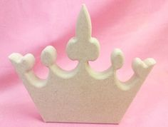 18mm Thick MDF standing Fancy  Crown craft blank 150mm