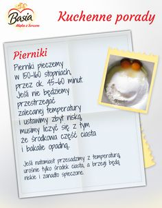 Pierniki Polish Recipes, Kitchen Hacks, Dom, Clean Eating, Easy Meals, Food Porn, Food And Drink, Sweets, Cookies