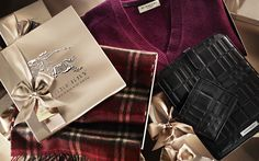 Burberry festive gifts - Scarves, sweaters and iPad cases for men