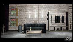Лофт на 100 кв.м.: интерьер, зd визуализация, квартира, дом, лофт, 100 - 200 м2, студия, интерьер #interiordesign #3dvisualization #apartment #house #loft #100_200m2 #studio #atelier #interior arXip.com