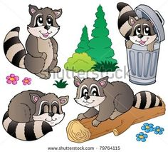 Cartoon racoon Free vector for free download about (1) Free vector in ai, eps, cdr, svg format .