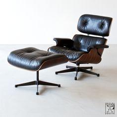 Vintage Eames Lounge Chair mit Ottomane - Bild 1