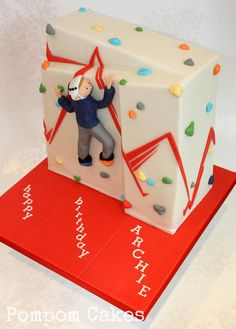 At the climbing wall  Cake by PompomCakes                              …