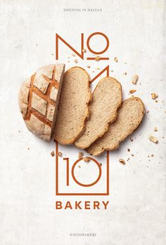Brand identity, creative concept and poster design for No 10 Bakery. Brand identity, creative concept and poster design for No 10 Bakery.