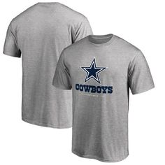Dallas Cowboys NFL Pro Line Team Lockup T-Shirt - Heathered Gray   CowboysNation Follow 633c68fe4