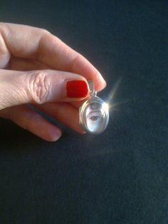 Georgian style lovers eye locket pendant by CaronPowerJewellery