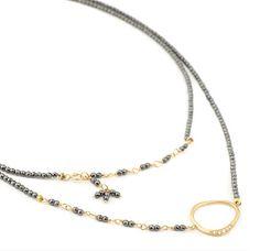 Pyrite Necklace, $1400.