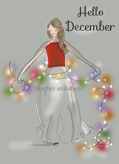 Christmas Cards Christmas Art Colored by RoseHillDesignStudio
