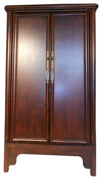 "Chinese Antique Ming Style Splayed Cabinet $1195  33"" x 19"" x 65"""