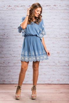"""""""Delightfully Detailed Dress, Serenity""""This dress has so much delightful detailing! All that embroidery is fabulous! The flowing cut of the dress is also pretty amazing! #newarrivals #shopthemint"""