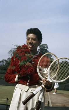 althea gibson, the french championships, the french open, paris, france, 1956