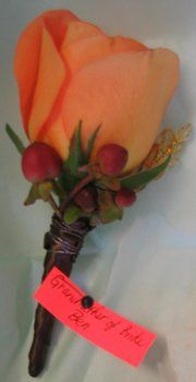 Wedding, Flowers, Orange, Brown, Gold, Boutonniere, Ninfas flowers gifts
