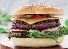 Mexicansk Burger - - Ude og Hjemme Guacamole, Sandwiches, Beef, Dessert, Wraps, Food, Hamburgers, Meat, Postres