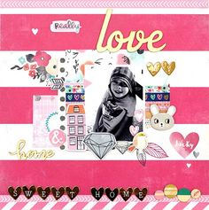 Designer @amelie_mordret is sharing a beautiful layout made with our #september2015 kits featuring @americancrafts @amytangerine @dearlizzy #hipkitclub #hipkits #scrapbook #scrapbookkits #scrapbooking