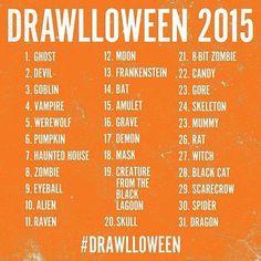 Basic #Inktober challenge. #Drawlloween
