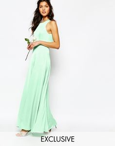 Fame and Partners | Fame and Partners Asleigh Maxi Dress With Open Back And Side Splits at ASOS