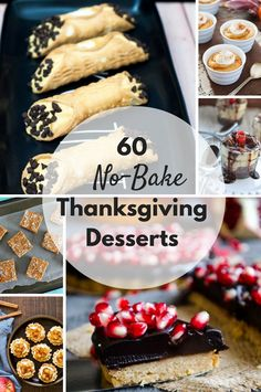 Don't overcrowd your oven this Thanksgiving — make a no-bake dessert! Here are 60 options for no-bake Thanksgiving desserts.