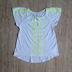 Old Navy white/green tee 8y&14y 55rb