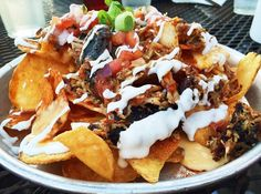 These are the kind of nachos we like - barbecue nachos. That's how we do it in Nashville. #edleysbbq