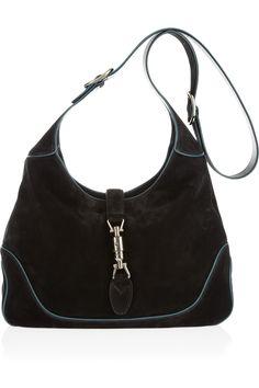 Gucci|Jackie nubuck shoulder bag|NET-A-PORTER.COM