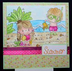 Tinas kreative Seite: Strand-Szene