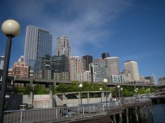 Enjoy Puget Sound, downtown Seattle and the new Ferris Wheel in Seattle's Waterfront Park.