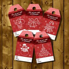 DIY Christmas Tags, gift tag, printable by WhatAPrintableWorld on Etsy