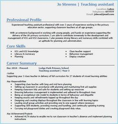 teaching assistant cv example page 1 cv for teaching cv Teacher Resume Template, Cv Template, Resume Templates, Cv For Teaching, Teaching Resume, Teaching Assistant Role, Teacher Assistant, Home Design, Cv Design