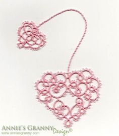 Tatted bookmark  Hearts Desire by AnniesGranny on Etsy --- VERY PRETTY  !!